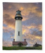 Lighthouse Visitors Fleece Blanket