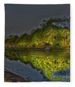 Lighting The Erie Canal Fleece Blanket