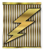 Lightning Bolt Fleece Blanket