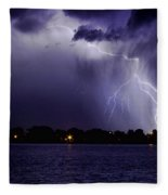 Lightning Bolt Energy Color Fleece Blanket