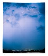 Lightning Rainbow Blues Fleece Blanket