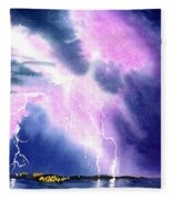 Lightning Strike Fleece Blanket