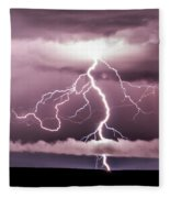 Lightning Strikes Fleece Blanket