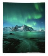 Lights Above Lofoten Fleece Blanket