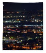 Lights Across Birmingham Fleece Blanket