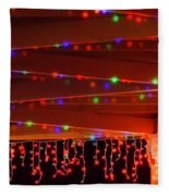 Lights At Christmas Fleece Blanket
