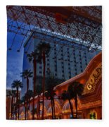 Lights In Down Town Las Vegas Fleece Blanket