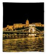 Lights Of Budapest Fleece Blanket