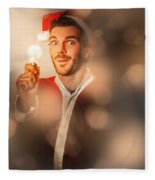 Lights Of Christmas Ideas Fleece Blanket