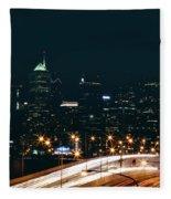 Lights Of Philadelphia Fleece Blanket