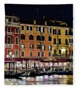 Lights Of Venice Fleece Blanket