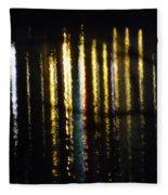 Lights On The Water Fleece Blanket