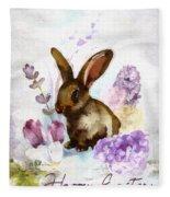 Lilac And Bunny Fleece Blanket