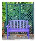 Lilac And Teal Garden Fleece Blanket