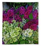 Lilac Bouquet Fleece Blanket