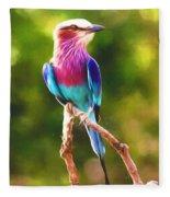 Lilac-breasted Roller Fleece Blanket