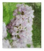Lilac Dreams - Digital Watercolor Fleece Blanket