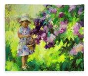 Lilac Festival Fleece Blanket