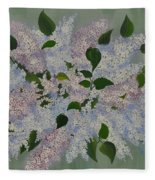 Lilac Flowers Expressing Harmony Fleece Blanket