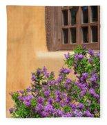 Lilacs And Adobe Fleece Blanket