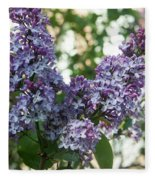 Lilacs In Spring Fleece Blanket