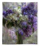 Lilacs Of Love Fleece Blanket