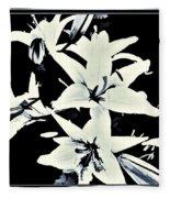 Lilies All Aglow Fleece Blanket