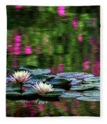 Lilies And Crape Myrtle Fleece Blanket