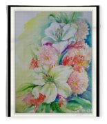 Lilies And Mums Fleece Blanket