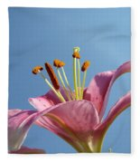 Lilies Art Prints Pink Lily Flower Giclee Art Prints Baslee Troutman Fleece Blanket