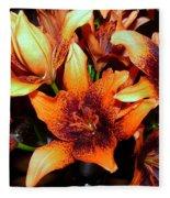 Lilies In The Shadow Fleece Blanket