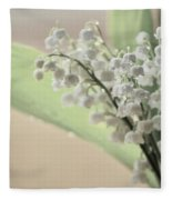 Lilies Of The Valley 2 Fleece Blanket