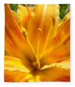 Lilies Orange Yellow Lily Flower 1 Giclee Art Prints Baslee Troutman Fleece Blanket