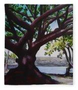 Liliuokalani Park Tree Fleece Blanket