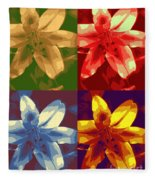 Lillies Of Four Fleece Blanket