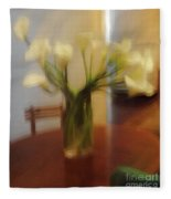 Lillies On The Table Fleece Blanket