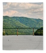 Lilly Bridge - Hinton West Virginia Fleece Blanket