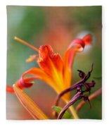 Lilly Flowers Fleece Blanket