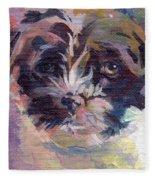 Lilly Pup Fleece Blanket