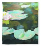 Lillypad Reflections Fleece Blanket