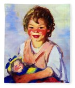 Lily Cow And The Queen 1915 Fleece Blanket