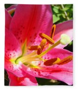 Lily Flower Pink Lilies Giclee Art Prints Baslee Troutman Fleece Blanket