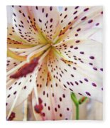 Lily Flower White Lilies Art Prints Baslee Troutman Fleece Blanket