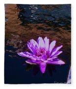 Lily In Pond Fleece Blanket
