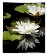 Lily Of The Lake Watercolor Fleece Blanket