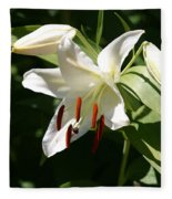 Lily Of White Fleece Blanket