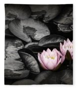 Lily Pad Blossoms Fleece Blanket