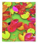 Lily Pad Faces Fleece Blanket