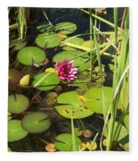 Lily Pad Pond In High Noon Sun Fleece Blanket