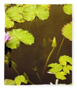 Lily Pads 1 Fleece Blanket